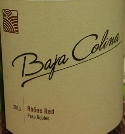 Baja Colina2010 Rhone Red