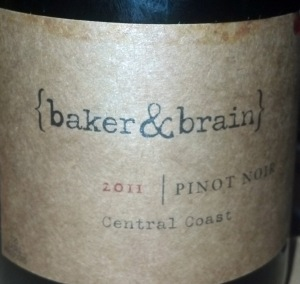 Baker & Brain Central Coast 2011 Pinot Noir