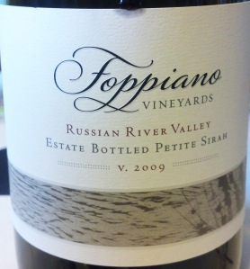 Foppiano 2009 Petite Sirah RR Valley