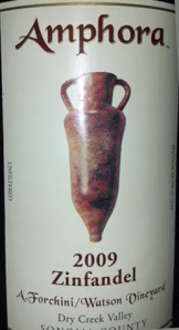 Amphora 2009 Dry creek Valley Zinfandel