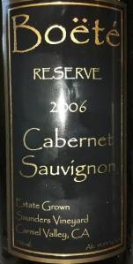 Boete 2006 Reserve Cabernet Sauvignon