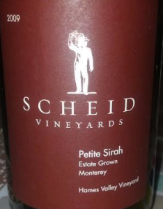 Scheid Vineyards 2009 Petite Sirah