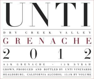 Unti 2012 Grenache