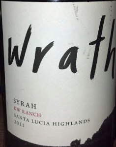 Wrath 2011 KW Ranch Syrah